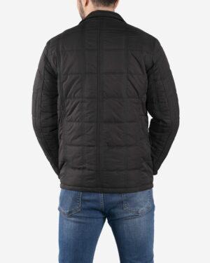 کاپشن زمستانی چهار جیب مردانه - مشکی - پشت