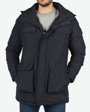 کاپشن چهار جیب مردانه - سرمه ای - روبهرو - خرید اینترنتی لباس - فروشگاه اینترنتی لباس سارابارا