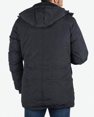 کاپشن چهار جیب مردانه - سرمه ای - پشت - خرید اینترنتی لباس - فروشگاه اینترنتی لباس سارابارا