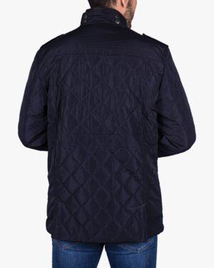 کاپشن کوتاه چهار جیب مردانه - سرمه ای - پشت