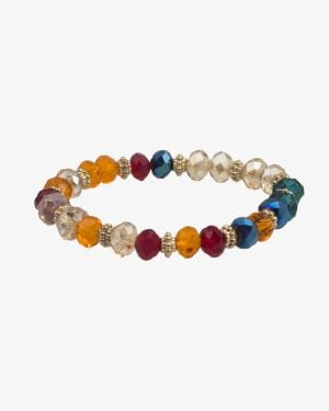 دستبند کشی مروارید رنگی طرح شیشه - مایل