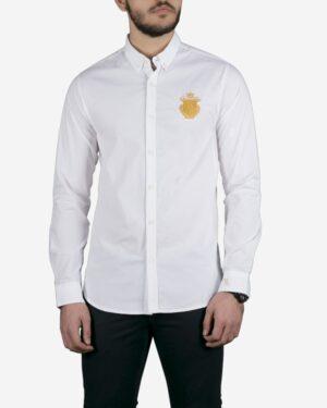 پیراهن مردانه آستین بلند سفید - سفید - رو به رو