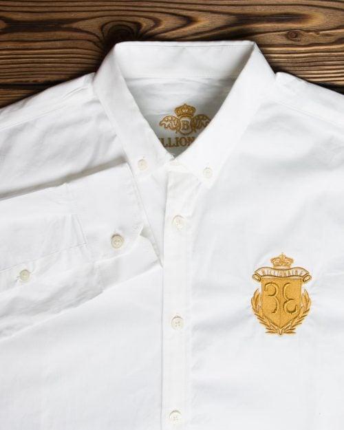 پیراهن مردانه آستین بلند سفید - سفید - یقه