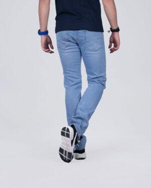 شلوار جین راسته مردانه آبی روشن - آبی روشن - پشت