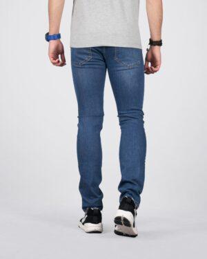 شلوار جین مردانه ساده راسته - آبی - پشت