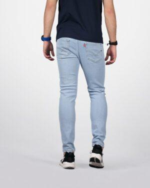 شلوار جین جذب مردانه - آبی یخی - پشت