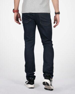 شلوار جین راسته سرمه ای تیره مردانه - سرمه ای - پشت
