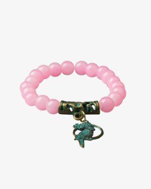 دستبند کشی مرواریدی با آویز طوطی-مایل