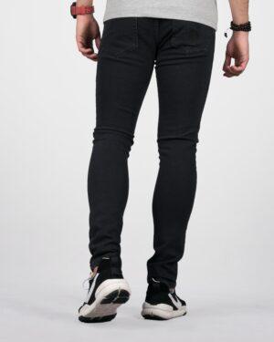 شلوار جین مشکی مردانه چسبان - مشکی - پشت
