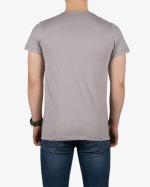 تیشرت مردانه طرح نوشته گرد - طوسی - پشت