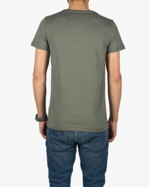 تیشرت آستین کوتاه با طرح پیکان کانی راش - زیتونی - پشت