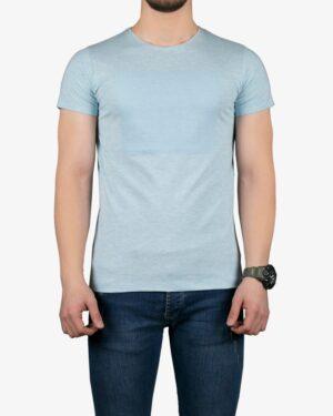 تیشرت آستین کوتاه برفکی مردانه - آبی یخی - رو به رو