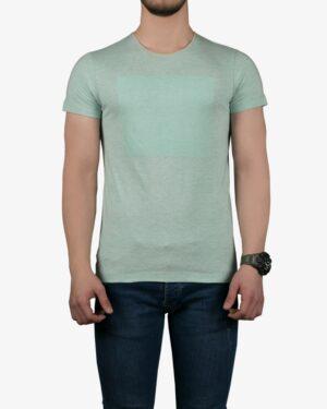 تیشرت آستین کوتاه برفکی مردانه - سبز زمردی - رو به رو