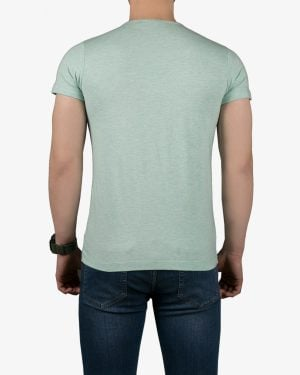 تیشرت آستین کوتاه برفکی مردانه - سبز زمردی - پشت