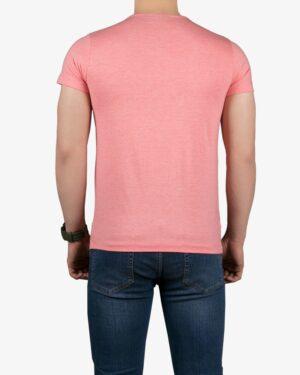 تیشرت آستین کوتاه برفکی مردانه - صورتی - پشت