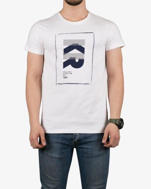 تیشرت آستین کوتاه طرحدار کانی راش - سفید - روبهرو