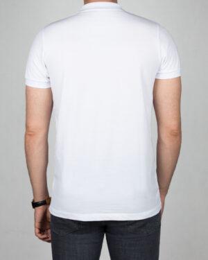 تیشرت یقهدار سادهی آرم دار کانی راش - سفید - پشت