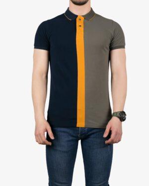 پولوشرت سه رنگ مردانه - ماشی - روبهرو - خرید اینترنتی لباس - فروشگاه اینترنتی لباس سارابارا