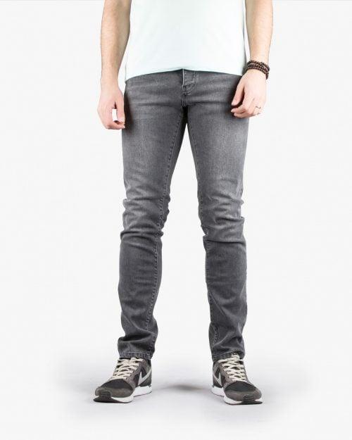 شلوار جین زغالی راسته مردانه |