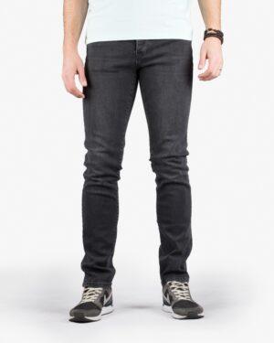 شلوار جین زغالی راسته مردانه - مشکی - رو به رو
