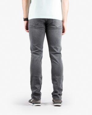 شلوار جین زغالی راسته مردانه - خاکستری - پشت