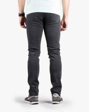 شلوار جین زغالی راسته مردانه - مشکی - پشت