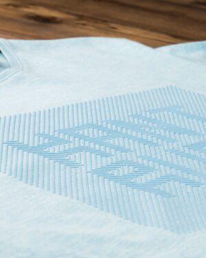 تیشرت آستین کوتاه برفکی مردانه - آبی یخی - طرح دار برفکی