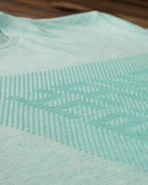 تیشرت آستین کوتاه برفکی مردانه - سبز زمردی - طرح دار برفکی