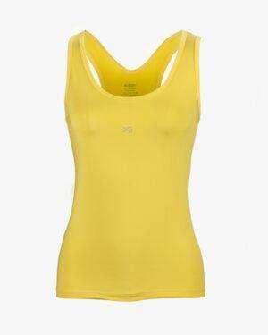 تاپ زنانه دوبنده یقه گرد - زرد - روبهرو - خرید اینترنتی لباس - فروشگاه اینترنتی لباس سارابارا