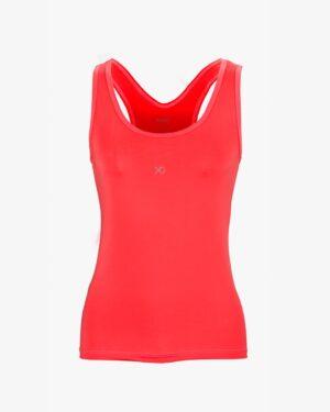تاپ زنانه دوبنده یقه گرد - قرمز - روبهرو - خرید اینترنتی لباس - فروشگاه اینترنتی لباس سارابارا