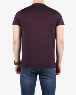 تیشرتهای سادهی نخی پنبهای - بنفش پررنگ - پشت
