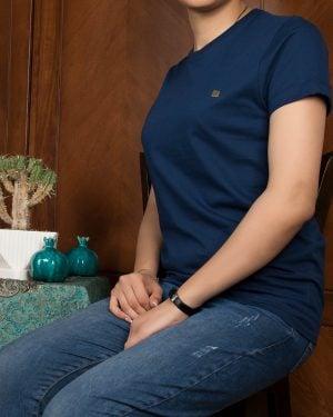 تیشرتهای سادهی نخی پنبهای زنانه - سرمهای- محیطی