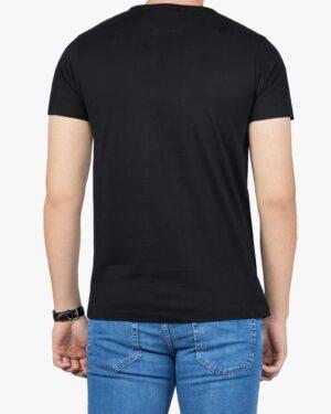 تی شرت آستین کوتاه مردانه کانی راش - مشکی - پشت