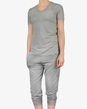 تیشرت و شلوارک دخترانه راه راه - ملانژ - روبهرو - خرید اینترنتی لباس - فروشگاه اینترنتی لباس سارابارا
