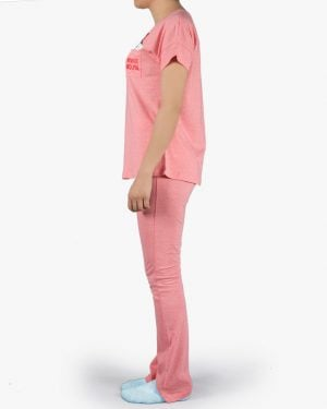 ست تیشرت و شلوار نخی زنانه طرح میکی موس - هولویی سیر - بغل
