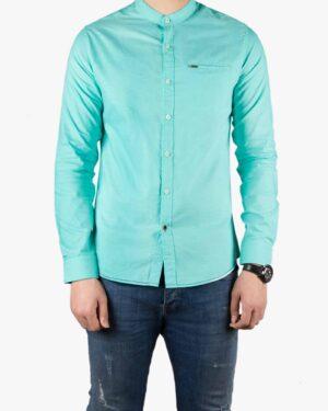 پیراهن یقه دیپلمات - سبز دریایی - رو به رو