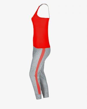 تاپ و شلوارک ورزشی زنانه - قرمز - بغل