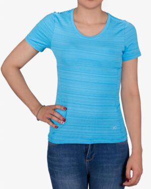 تیشرت آستین کوتاه ورزشی زنانه - ابی - رو به رو