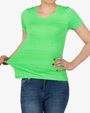 تیشرت آستین کوتاه ورزشی زنانه - سبز - رو به رو