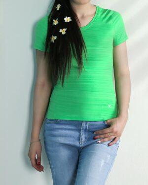 تیشرت آستین کوتاه ورزشی زنانه - سبز - محیطی