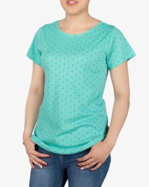 تیشرت زنانه آستین کوتاه با طرح لنگر - سبزآبی روشن - روبهرو - خرید اینترنتی لباس - فروشگاه اینترنتی لباس سارابارا