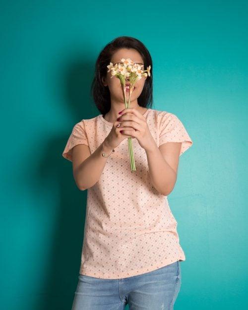 تیشرت زنانه آستین کوتاه با طرح لنگر - هلویی سیر - محیطی - خرید اینترنتی لباس - فروشگاه اینترنتی لباس سارابارا