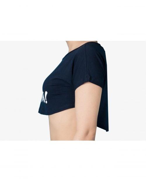 تیشرت نیم تنه دخترانه سرمه ای-بغل