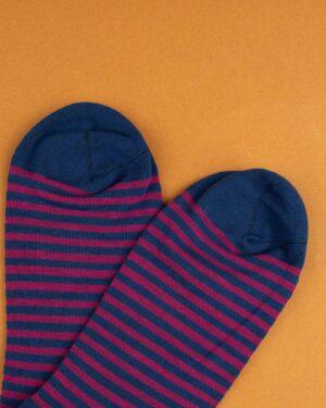 جوراب نخی 2T1- سرمه ای (4)