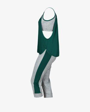 ست تاپ شلوارک زنانهی چیندار - کله غازی - بغل - خرید اینترنتی لباس - فروشگاه اینترنتی لباس سارابارا