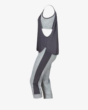 ست تاپ شلوارک زنانهی چیندار - دودی - بغل - خرید اینترنتی لباس - فروشگاه اینترنتی لباس سارابارا