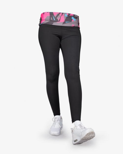لگ ورزشی زنانه مشکی گن دار - روبهرو - خرید اینترنتی - فروشگاه اینترنتی لباس سارابارا