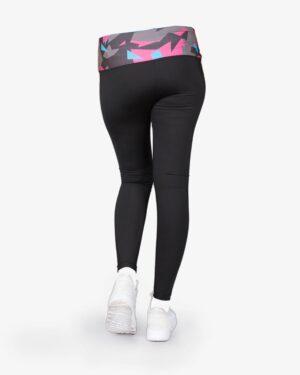 لگ ورزشی زنانه مشکی گن دار - پشت - خرید اینترنتی - فروشگاه اینترنتی لباس سارابارا