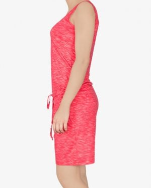 سرهمی زنانه اسپرت کوتاه - قرمز روشن - بغل