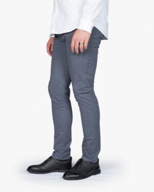 شلوار کتان مردانه - سربی تیره - بغل - خرید اینترنتی لباس - فروشگاه اینترنتی لباس سارابارا